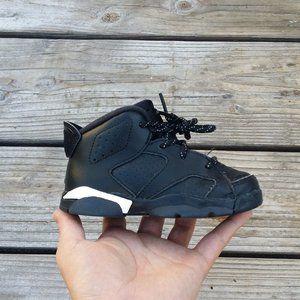 Nike Air Jordan Retro 6 TD Black Cat Toddler Shoes
